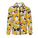 X-Peach Saint Bernard Dog Kids & Youth Full-Zip Fleece Hoodie Boys Graphic Hooded Sweatshirt Jacket Pockets Black