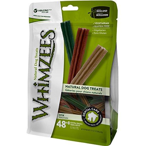 WHIMZEES Natürliche Getreidefreie Zahnpflegesnacks, Kaustangen für Hunde, Stix XS, 56 Stück à 7,5 g