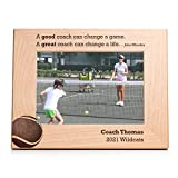 Lifetime Creations Engraved Personalized Tennis Coach Picture Frame (5' x 7' Landscape) - Personalized Tennis Coach Gifts, Youth Tennis Coach Frame Gift Ideas