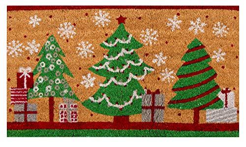 Natural Coir Door Mat - Merry Christmas Indoor Outdoor...