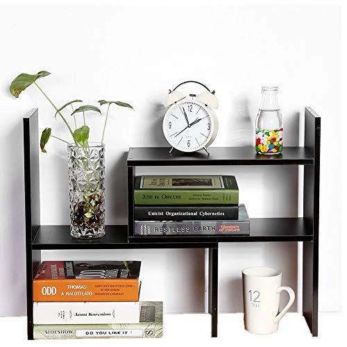 Estante de almacenamiento de escritorio multifunción, estantería de almacenamiento para libros para oficina, cocina, libros, flores y plantas