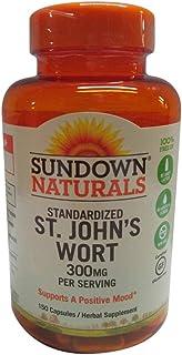 Sundown Naturals Standardized St. John's Wort Capsules 150 ea (Pack of 4)