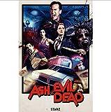 yhnjikl Ash Vs The Evil Dead Temporada 2 Póster de Seda Pintura Decorativa 40X60Cm Sin Marco