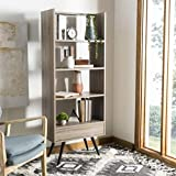 Safavieh Home Collection Terrence Retro Mid Century Wood Etagere, Oak and Black