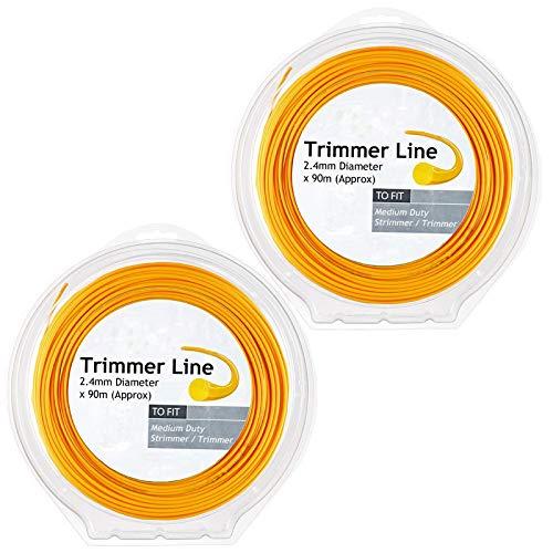 Spares2go - Línea de desbrozadora para fresadora Stihl (2 x 90 x 2,4 mm)