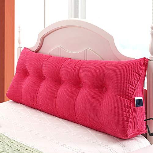 ZHAYEDE Große Bequeme dreieckige Rückenlehne Bett Kissen Kopfteil,Rückenkissen keilkissen Bett zum Lesen Rest im Bett Rest Atmungsaktive Lendenkissen Bücherkissen Taille mit waschbarem Rosa