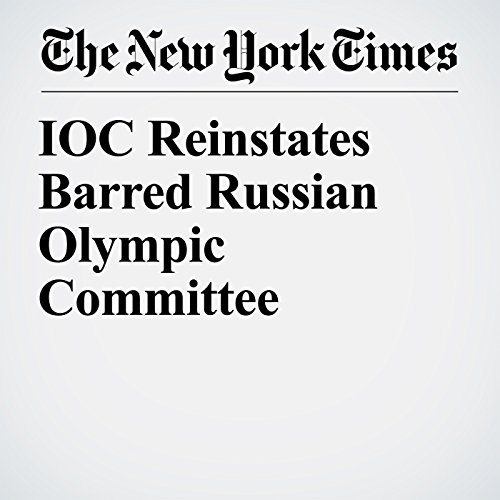 IOC Reinstates Barred Russian Olympic Committee copertina