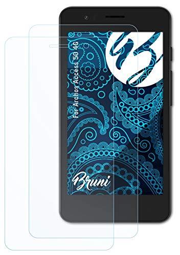 Bruni Schutzfolie kompatibel mit Archos Access 50 4G Folie, glasklare Bildschirmschutzfolie (2X)