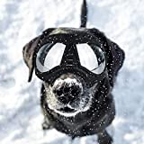 PETLESO Dog Goggles- Large Breed Dog Goggles Eye Protection Sunglasses for Outdoor Skiing Driving Cycling, Black