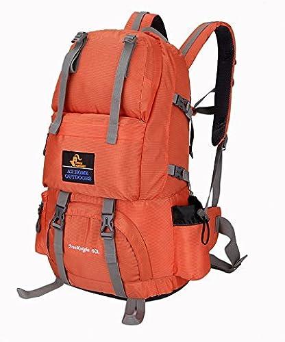 Lounayy Vous 55L Sports De Plein Air élégant Alpinisme Mode Randonnée Voyage Sac à Dos Sac à Dos Durable Sac à Dos Sac à Dos Mode Sac à Dos Daypack (Couleur   Orange, Taille   One Taille)
