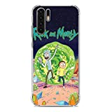 Gogoyang Clear Transparent Soft TPU Case Cover for Huawei P30 PRO-Cartoon Rick-Morty Fan Art 5