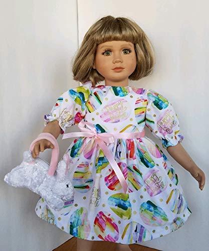 "Pretty EASTER EGG DRESS + Bunny Purse fits 23"" My Twinn Dolls"