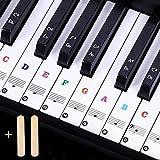 JEZOMONY Pegatinas de teclado de piano, para teclas 37/49/54/61/88, letra más grande, material diluy...