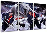 Berlin Eishockey, Fan Artikel Leinwandbild 3Teiler