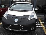 Lebra 2 piece Front End Cover Black - Car Mask Bra - Fits - 2011-2017 Nissan Leaf 11-17