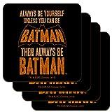 Batman Be Batman Low Profile Novelty Cork Coaster Set