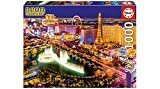 Educa Borras - Serie Neon Fluorescent, Puzzle 1.000 piezas Las Vegas, Brilla en la oscuridad (16761)