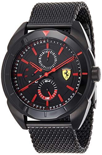 Scuderia Ferrari Orologio Multi-quadrante Quarzo Uomo con Cinturino in Acciaio Inox 830636
