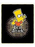 Bart Simpsons Decke Fleecedecke 120cm x 140cm
