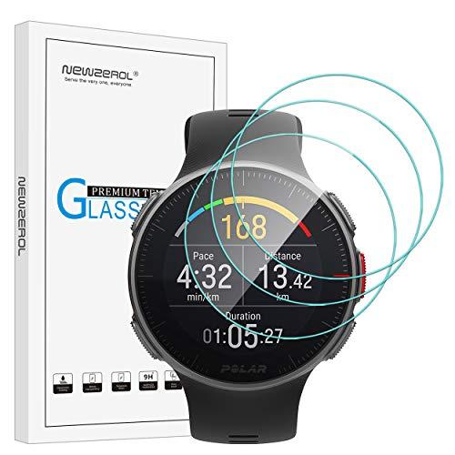 NEWZEROL 3 Paquetes para el Reloj Polar Vantage V Protector Protector de Pantalla Protector de Pantalla de Vidrio Templado antirrayado de Alta definición