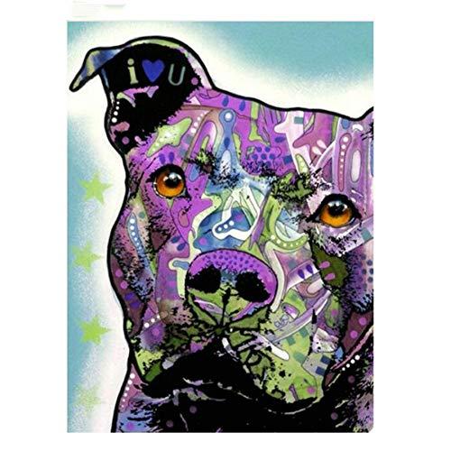 LBGMN 5D Diamond Mosaic Full Square English Bulldog Diamond Painting Cross Stitch Diamond Embroidery Pattern Rhinestones-30x40cm(11.8x15.499inch)