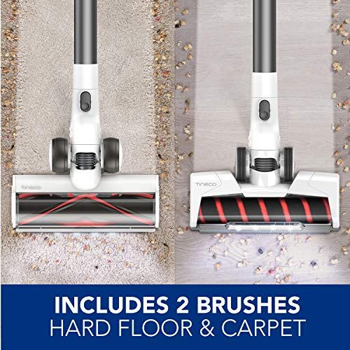 Tineco Pure ONE S12 Plus Cordless Stick Smart Vacuum Cleaner, Optimized Ultra Powerful Suction & Long Runtimes, Excellent for Multi-Surface & Pet Hair Cleaning with LED Hard Floor Soft-Roller Brush
