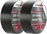Poppstar 2x selbstverschweißendes Universal Isolierband und Dichtungsband, LxBxH 10m x 38mm x 0,76mm, schwarz