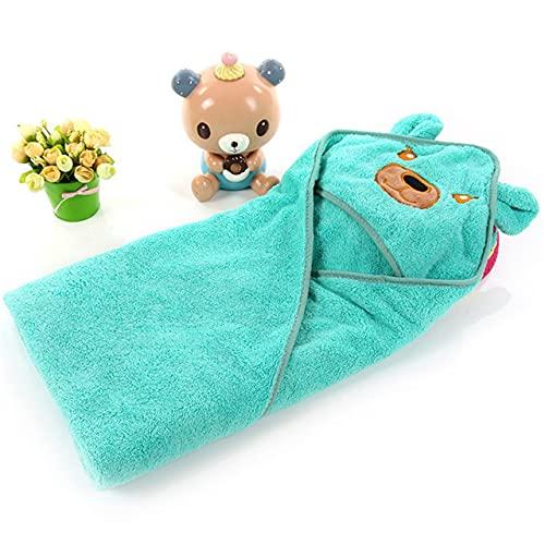 NOBUNO Bebé recién Nacido Invierno cálido Saco de Dormir swaddling swaddling shap Wrap Lindo Suave Pulver de sueño Swaddle Infantil niños Accesorios 1-3 años,Azul