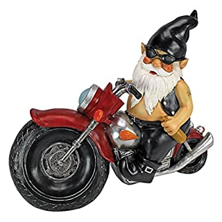 Garden Gnome Statue Statues Motorcycle