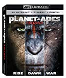 Planet of the Apes 1-3 Trilogy [4K Ultra HD + Blu-Ray + Digital]