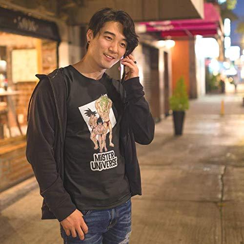 Okiwoki T-Shirt Noir Dragon Ball Z - DBZ parodique Sangoku, Végéta et Broly : Le Grand Concours de Mister Univers ! (Parodie Dragon Ball Z - DBZ)