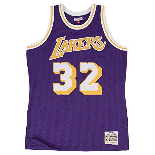 Mitchell & Ness Los Angeles Lakers Magic Johnson 1984 Road Swingman Jersey (X-Large)