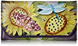 Anna by Anuschka Women's Leather Hand Painted Checkbook Wallet/Clutch | Tuscan Paradise, One Size