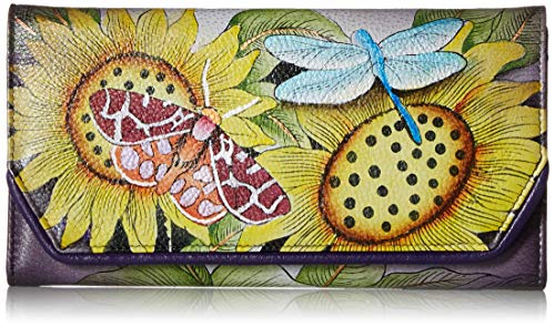 Anna by Anuschka Damen-Portemonnaie aus Leder, handbemalt, Mehrere (Toskanisches Paradies), Einheitsgröße