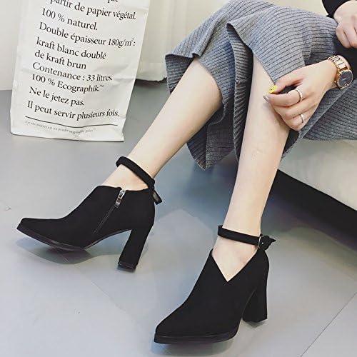 Une Nouvelle Boucle Talon Haut Talon, De Simples Chaussures étanches Tableau, Femmes,noir,Eu38Cn39