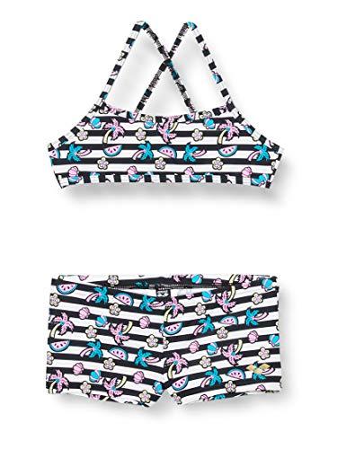 ARENA Jr Top Bikini Niña Tropical Summer, Niñas, White Black, 12-13