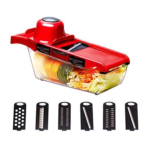 Baifeng - Cortador de verduras (6 cuchillas, cortadora de pa