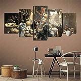 Art deco Assassin's Creed Revelations Juego HD Papel tapiz de escritorio 5 pinturas de cartera de moda Arte sala de estar estudio decoración pintura Pintura sin marco 200x100cm