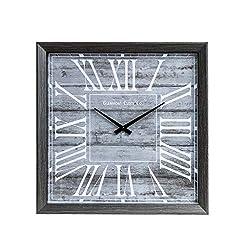 18 Rustic Greywash Square Wall Clock
