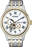Citizen Mechanical Analogue Display White Dial Men's Watch