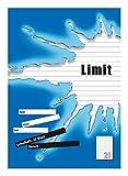 LIMIT Schulheft 10er Pack A4 Lineatur 21 - liniert ohne Rand 16 Blatt blau