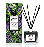 Lavender Scent Reed Diffuser Set with Sticks, Essential Incense Oil Air Freshener for Bath...