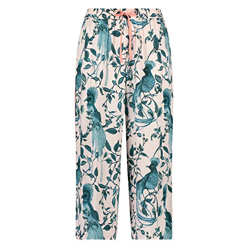 HUNKEMÖLLER Damen Gewebte Pyjamahose Capri Rose XS