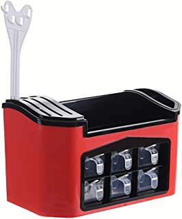 ZXZJ Spice Rack Spice Rack Couverts Plateau de Soutien Siège Multi-Usages de Cuisine Comptoirs Et Armoires de Rangement Or...