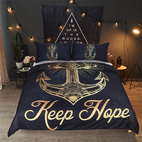 Bedclothes-Blanket Funda de edredón, Cubierta de Luna y lecho Estrella, Que Incluyen: Cubierta de edredón Extra Grande y Fundas de Almohadas 2X-3_210 * 210cm