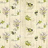 Fabulous Fabrics Baumwollstoff Cretonne Lavendel und Oliven