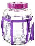 Universel en verre pour bonbonne à vin avec gärsystem verre pour la préparation de choucroute 5 l