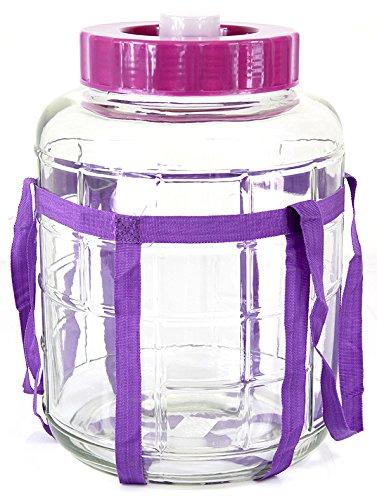Universelles Glas Weinballon mit Gärsystem Glasballon Einmachtopf 5 L