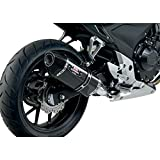 Yoshimura R-77 Slip-On Exhaust (Street/Carbon Fiber with Carbon Fiber End Cap) Compatible with 13-15 Honda CBR500R