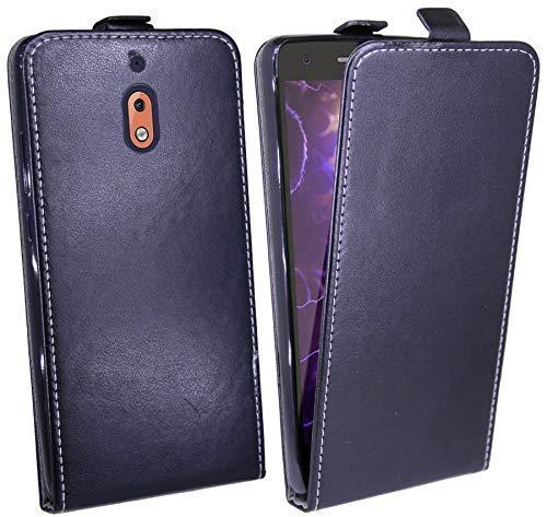 cofi1453 Klapptasche Schutztasche Schutzhülle kompatibel mit Nokia 2.1 (2018) Flip Tasche Hülle Zubehör Etui in Schwarz Tasche Hülle